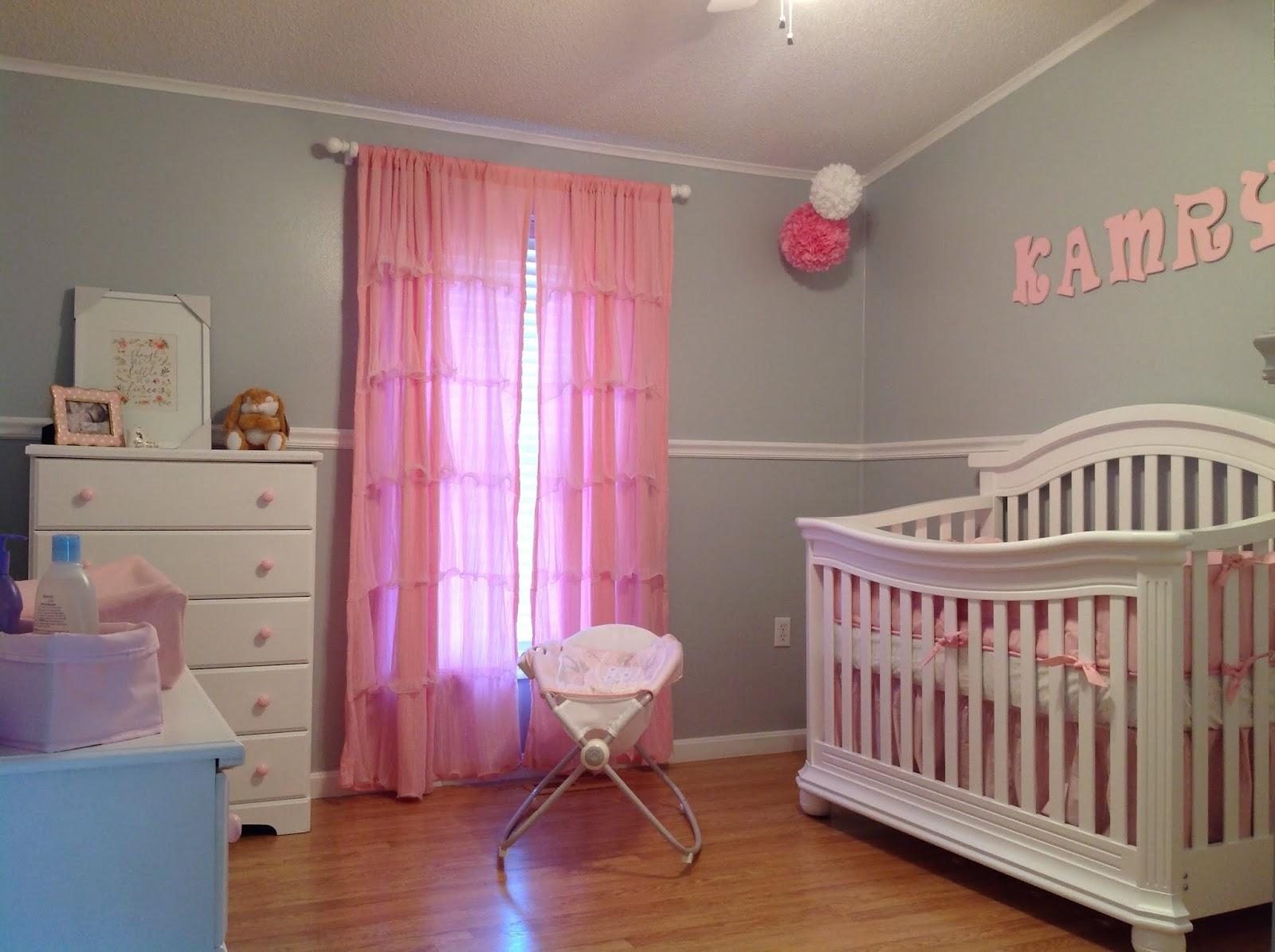 Pink Grey White Nursery