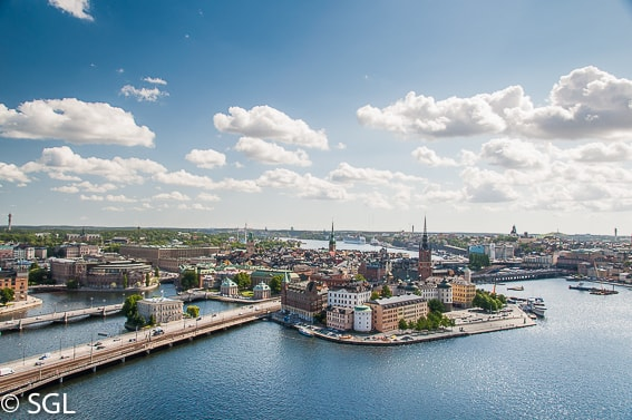 Vista aerea de Gamla Stan. Estocolmo