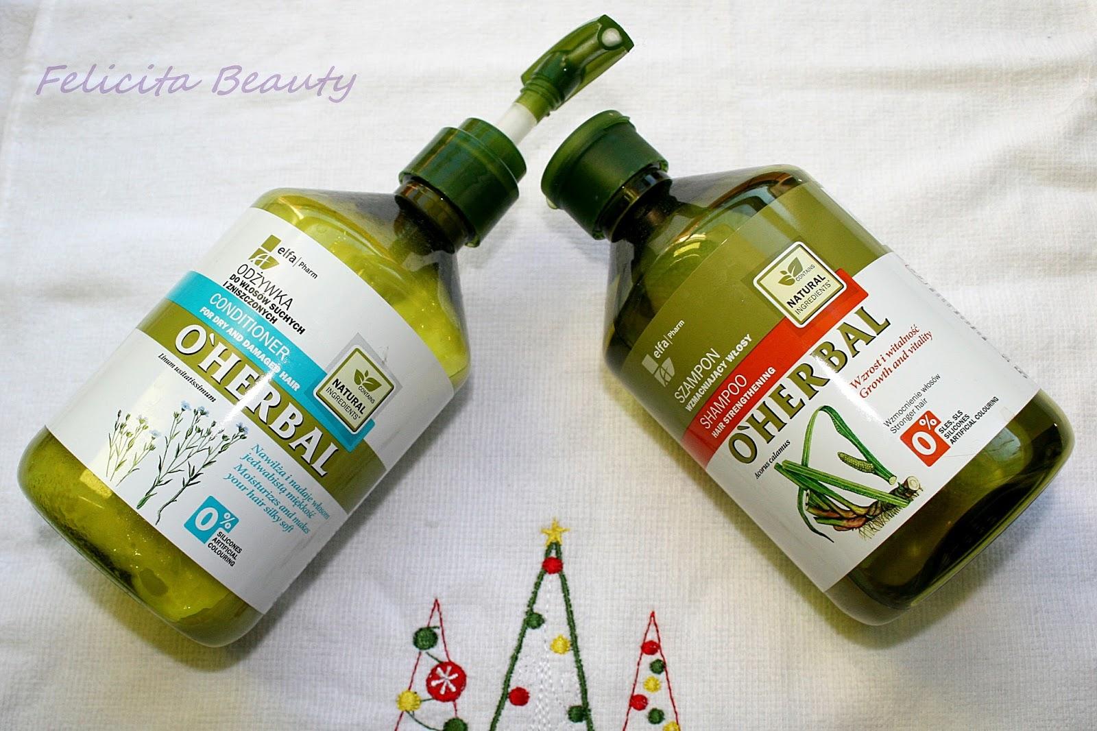 Szampon i odżywka do włosów O'herbal czy rzeczywiście takie dobre?