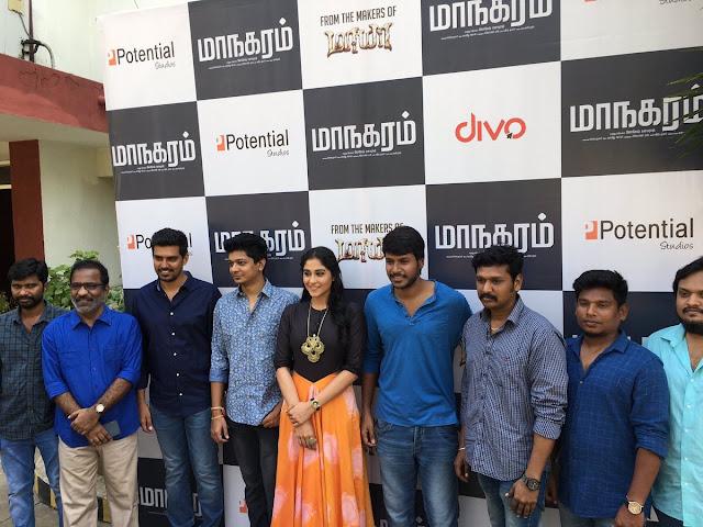 Regina Cassandra at Maanagaram Tamil Press Meet