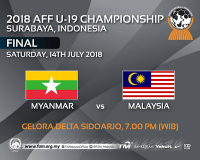 Live Streaming Malaysia vs Myanmar AFF U 19 ( 2018 )