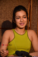 Actress Catherine Tresa Pos during Self Dubbing for Gautham Nanda Movie  0087.JPG