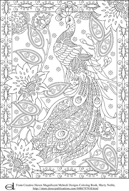 Peacock Adult Coloring Page Quote Via Azcoloring Several Pictures  To