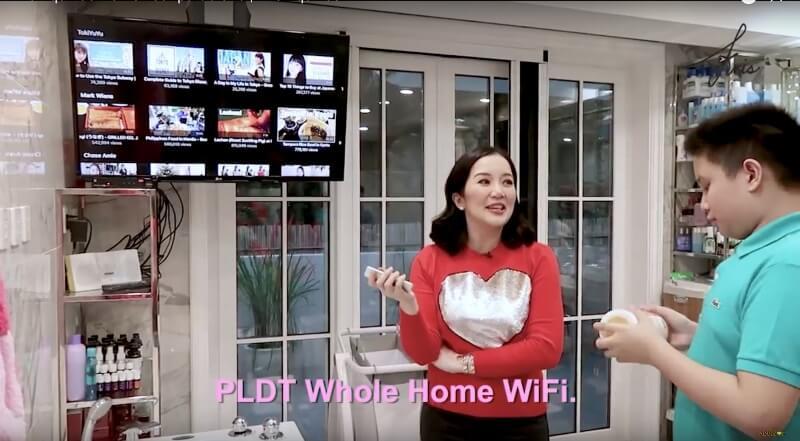 PLDT Home Fibr Powers Kris Aquino's Home