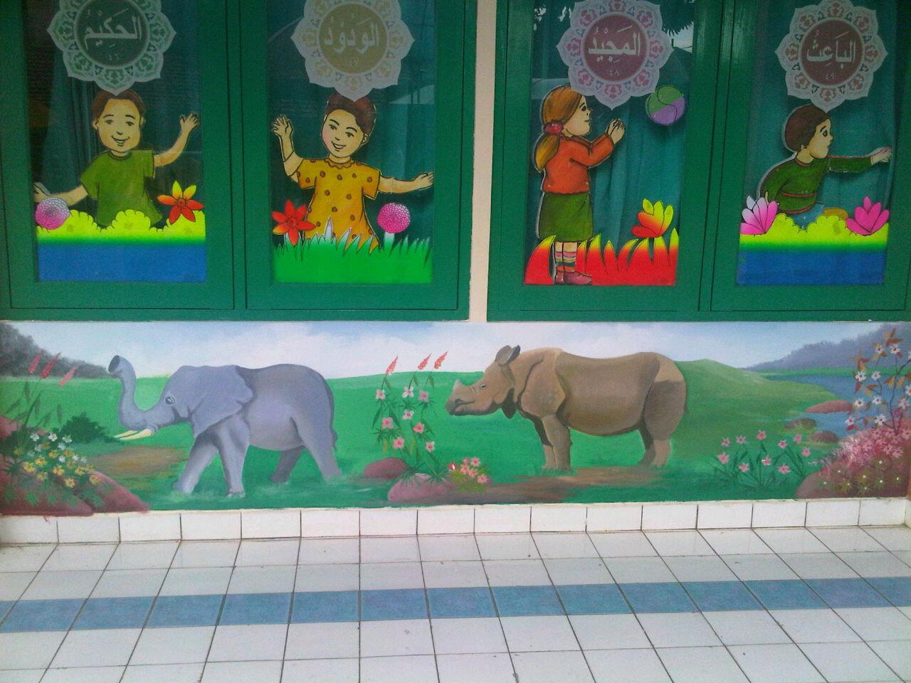 Lukisan dinding sekolah berkualitas for Mural untuk kanak kanak