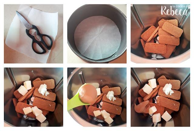 Receta de lotus cheesecake: cómo preparar la base 02