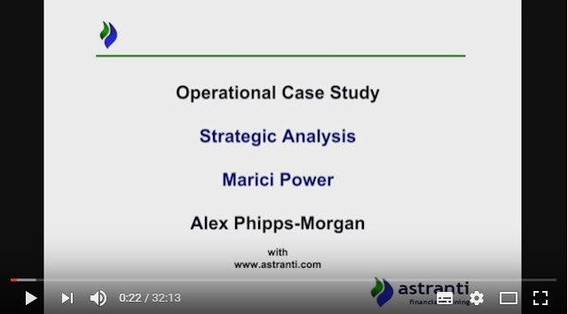 Strategic analysis video - OCS - November 2016 -  Marici Power - Operational case study
