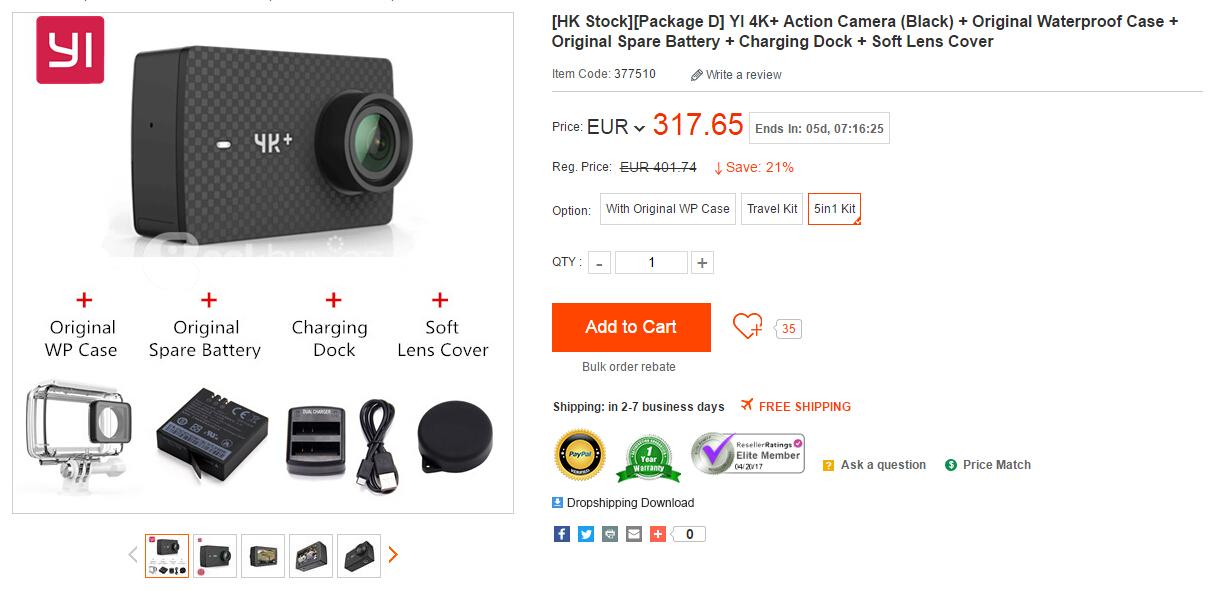 4kplus1 Xiaoyi YI 4K+ Action Camera in Stock Now - China Handy Forum