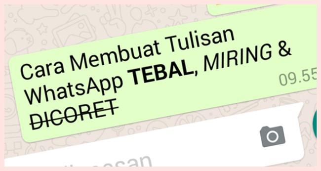 Cara Membuat Tulisan WhatsApp Tebal, Miring, Dicoret di WA Terbaru