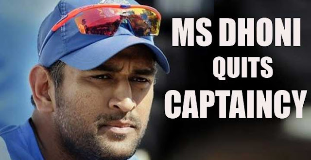 Ms Dhoni Quits as Indian Cricket Team Captain