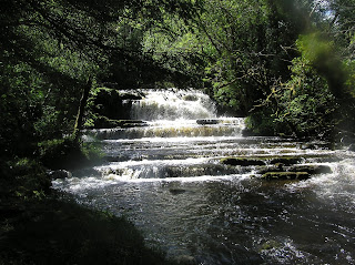 view of waterfall in Rossinver Leitrim