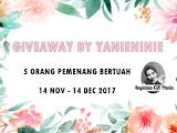 Giveaway By Yanieninie