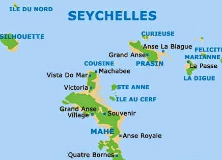 Map of Seychelles 10 Most Beautiful Island Countries in the World