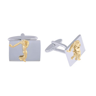 Imperial Gold Cufflink by shazé. Price- Rs. 2,490-min