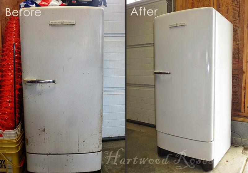 Hartwood Roses: Restoring Our Vintage GE Refrigerator