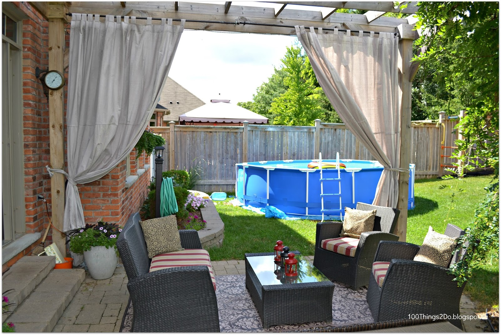 Diy patio curtains 100 things 2 do - Imagenes de porches ...