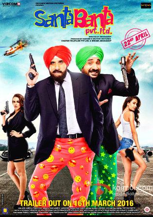 Poster of Santa Banta Pvt Ltd Full Hindi Movie Download