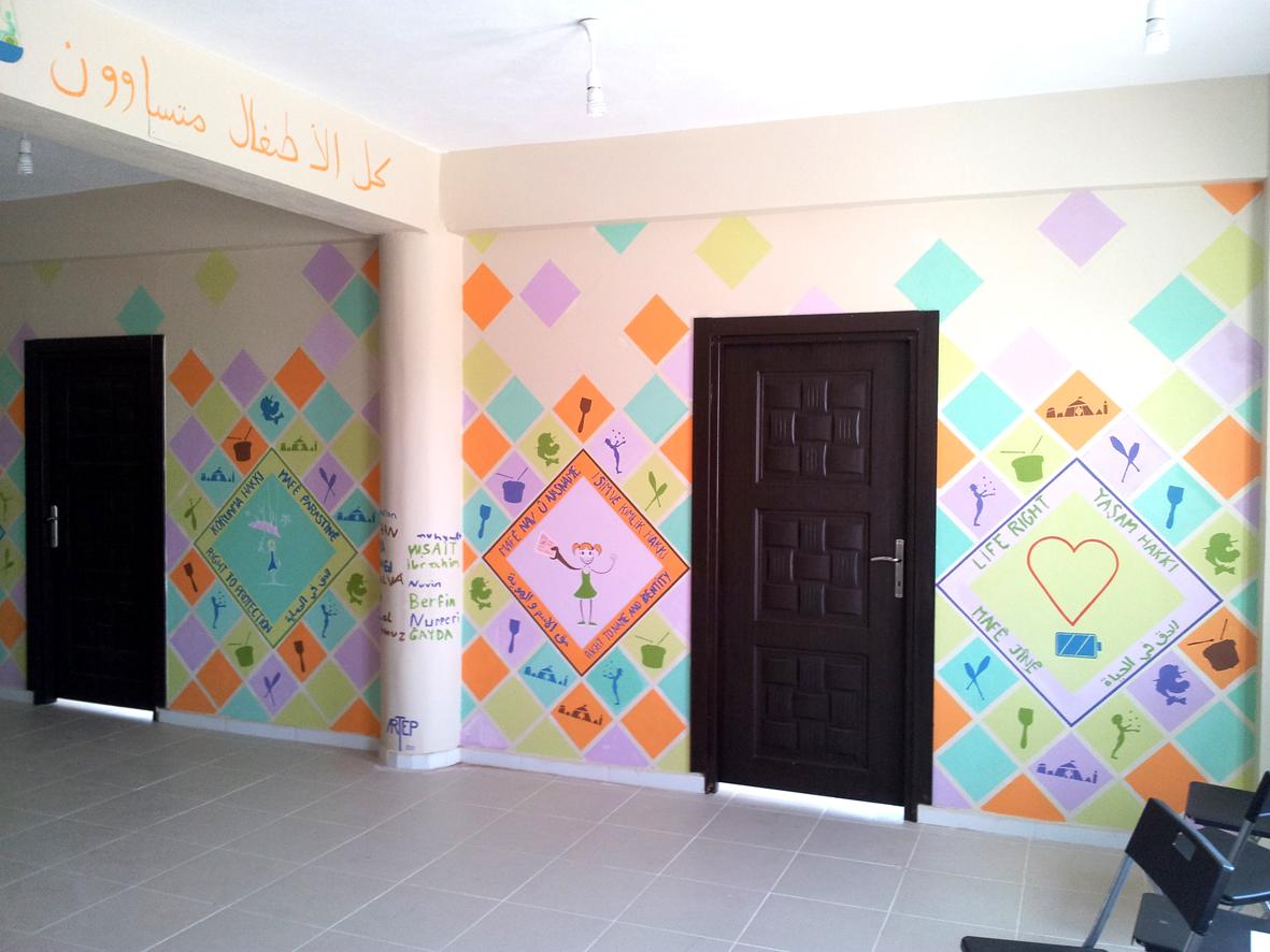 Peindre 2 Murs Sur 4 artep peinture murale: centre pour enfants