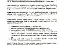 Pers Release: Pemuda Pancasila Tegaskan Berita Dukungannya Terhadap FPI adalah Hoax....!