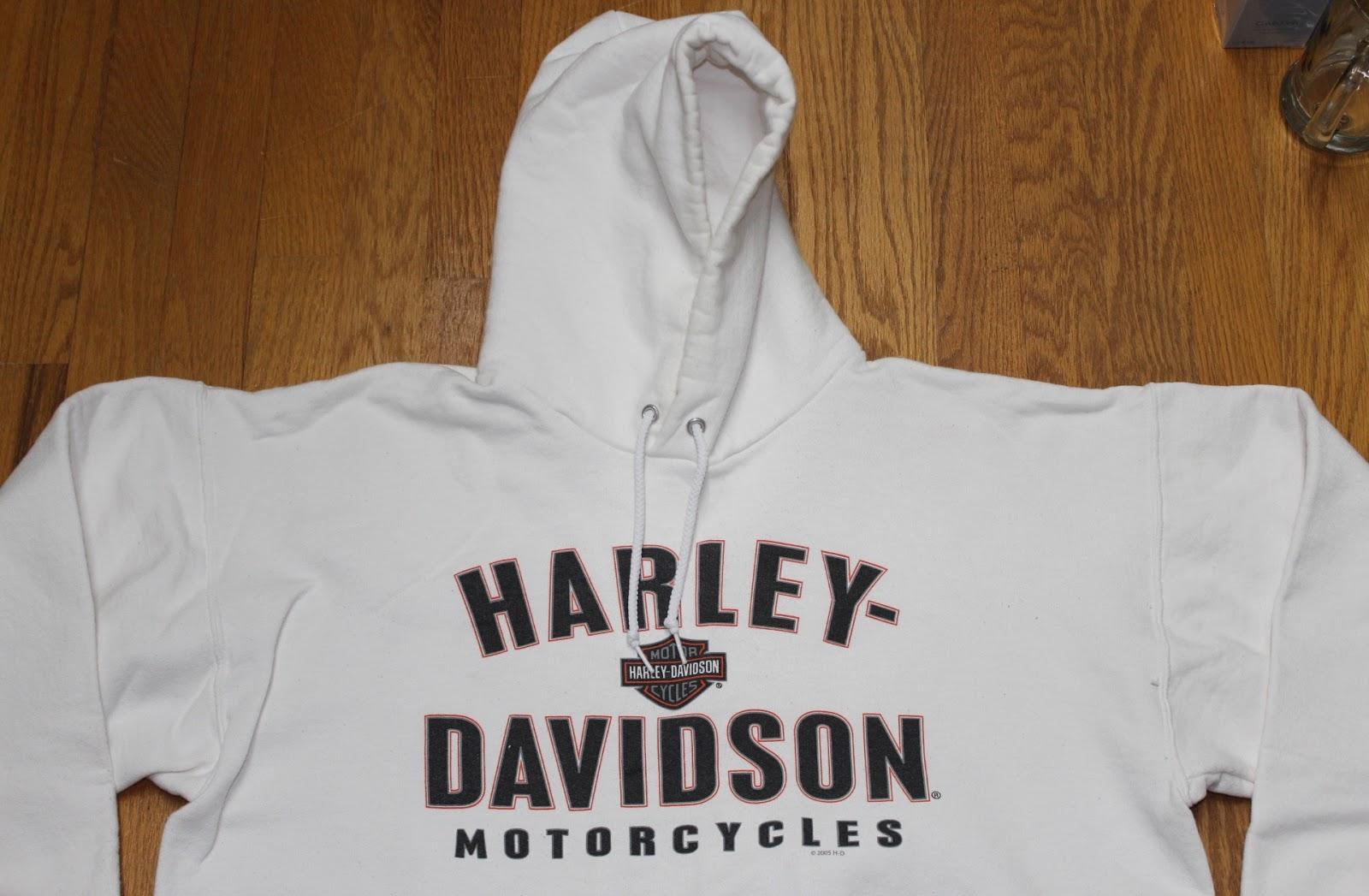 HARLEY DAVIDSON LOGO MOTORBIKE MOTORCYCLE CONTRAST HOODIE