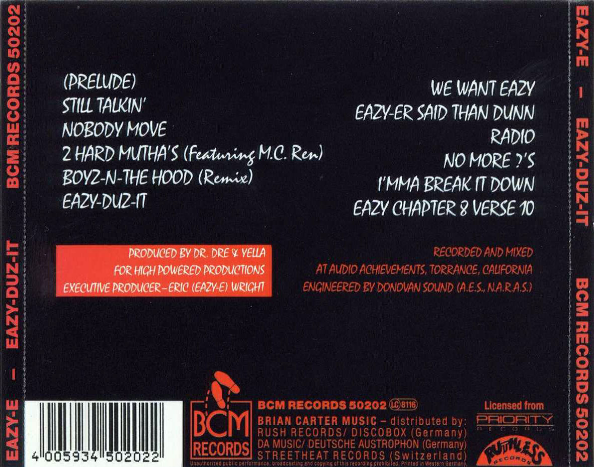 Eazy E Eazy-Duz-it  1988 Eazy E Eazy Duz It