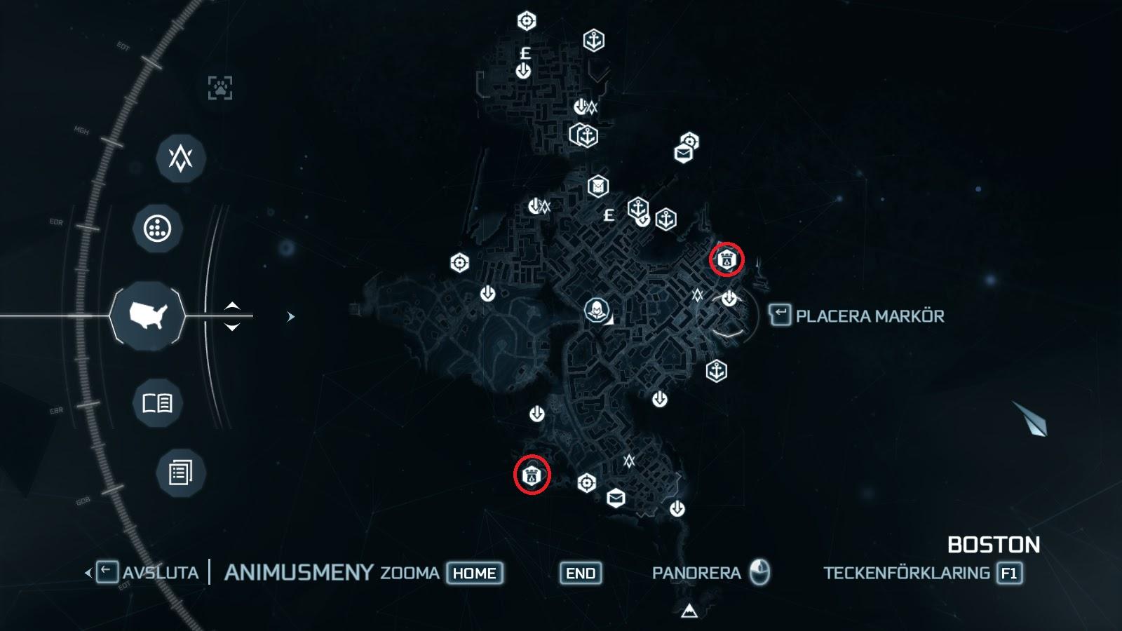 The Assasssins Creed Blog Templar Forts Locations Assassins Creed 3