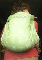 portage écharpe néobulle neobulle jacquard wrap avis babywearing review test portage rucksack carry