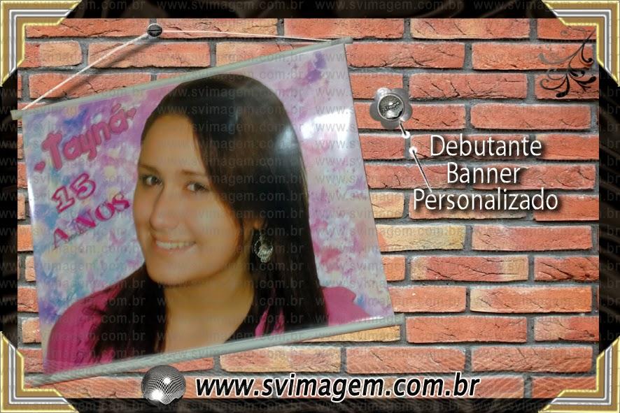Debutante 15 Anos Lilas Banner Personalizado Com Foto