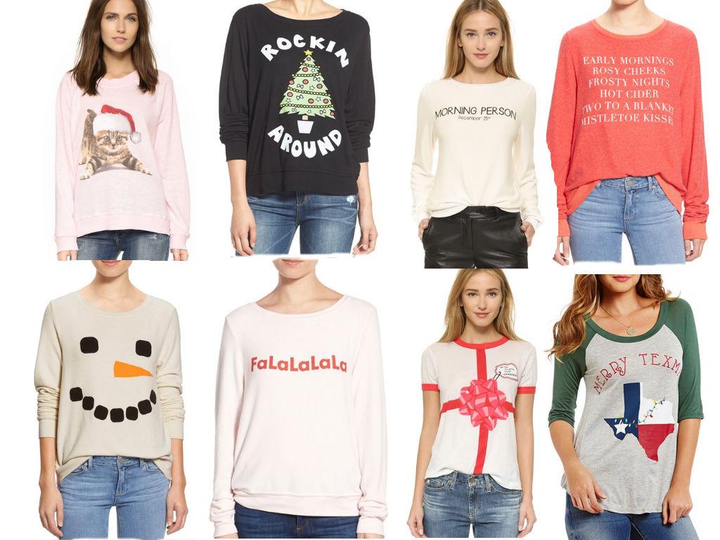 Wildfox Christmas.Christmas Shirt Spirit Champagneista