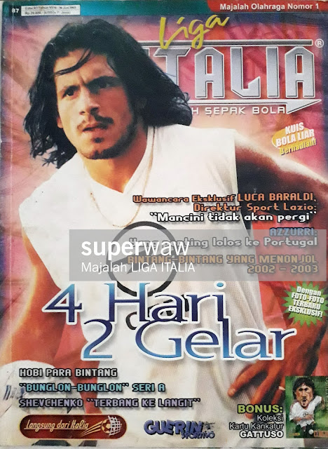 GENNARO GATTUSO OF AC MILAN ON MAGAZINE COVER