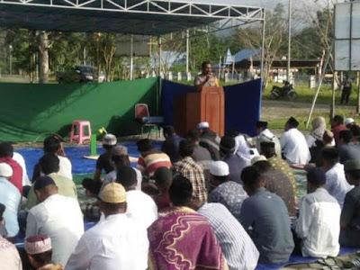 Alexander Louw Pesan Jaga Kamtibmas Saat Idul Fitri di Mamberamo Raya