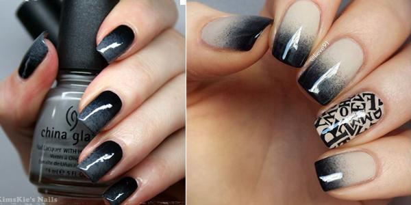 Black ombre nails!