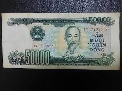 旧50000ドン紙幣