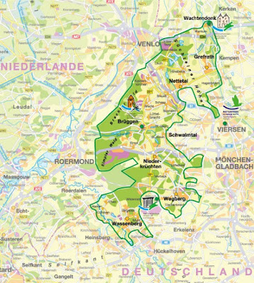 Mapa Parque Natural Schwalm-Nette