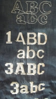 Image of 3 alphabet, showing just A B C in uppercase and lower case