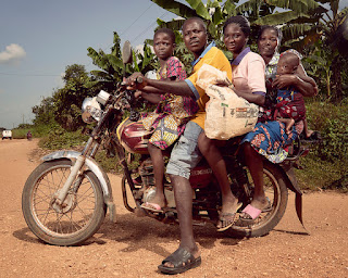 Motorbike taxi service in Kenya Africa