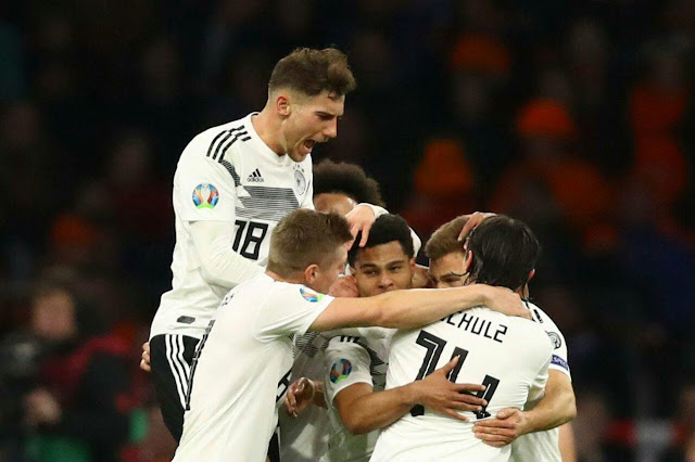 Nico Schulz had the final word in a seesawing game between rivals Germany and the Netherlands. Schulz's 90th minute strike secured his side a 3-2 win after they'd thrown away a two goal lead in the Euro 2020 qualifier.
