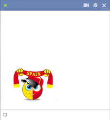 Spain football fan emoticon