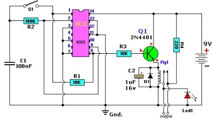 Alternating on off switch electronic project circuit with ...