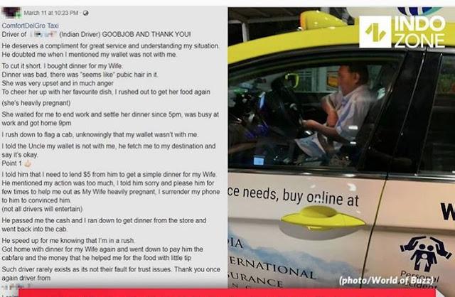 Kisah Supir Taksi Ini Viral Setelah Menolong Penumpangnya Yang Ketinggalan Dompet