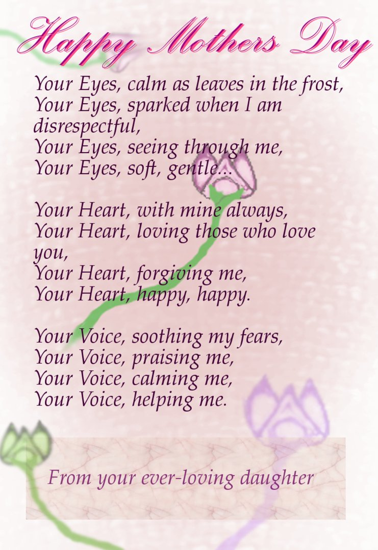 mothers day poems messages wishes quotes wish your