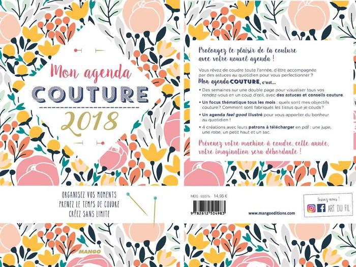 Favorit Mon Agenda couture 2018 façon bullet journal Bettinael.Passion  KV06