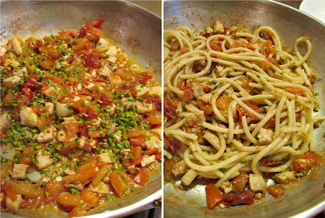 sugo di pesce spada pomodorini e granella di pistacchi