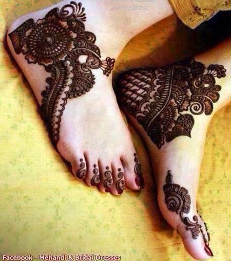 foot mehndi dasigns