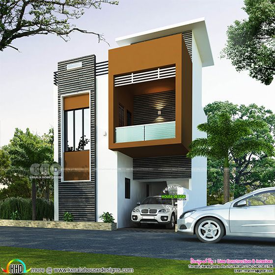 1247 square feet 3 bedroom modern flat roof house