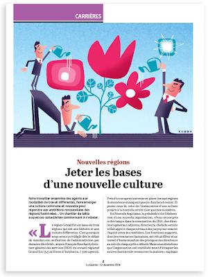 Clod illustration pour la Gazette des Communes article Nouvelles régions