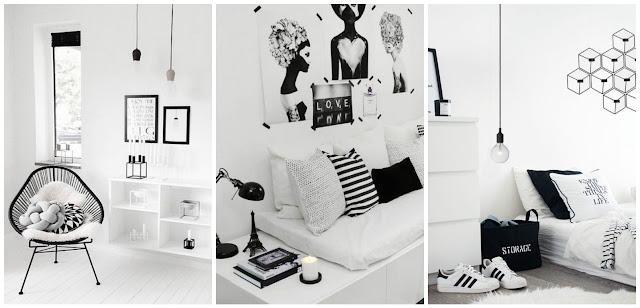 Decoração moderna preto e branco