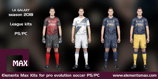 LA Galaxy PES Kits 2018