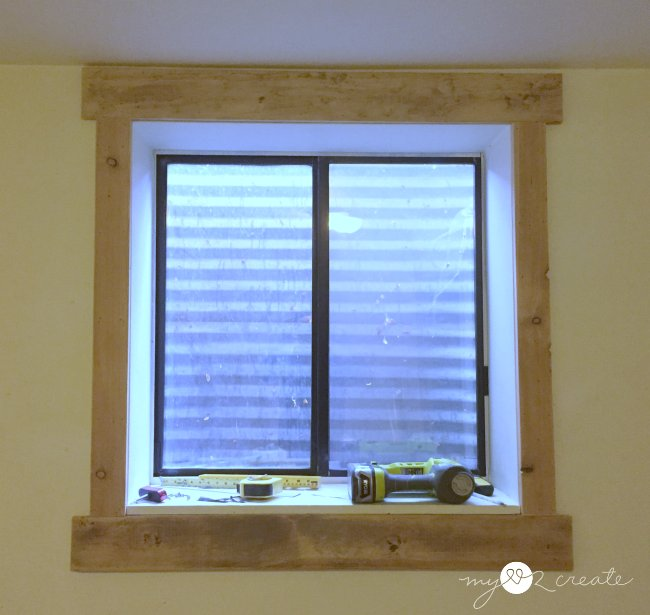 simple and easy window trim