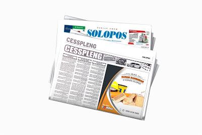 iklan bahan bangunan di koran Solopos